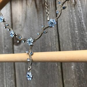 Cookie Lee Jewelry - Cookie Lee blue crystals Necklace earring set